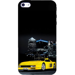 ifasho Stylish Yellow Car Back Case Cover for Apple iPhone 5