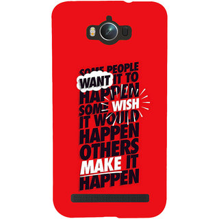 ifasho quote on inner Power Back Case Cover for Asus Zenfone Max