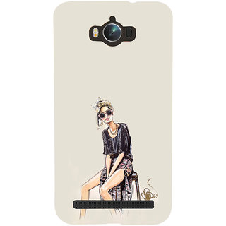 ifasho modern Girl painting Back Case Cover for Asus Zenfone Max