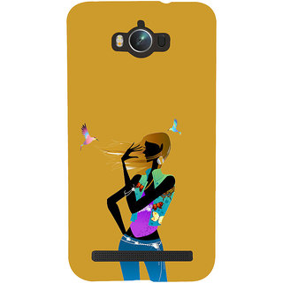 ifasho Girl with Bird Back Case Cover for Asus Zenfone Max