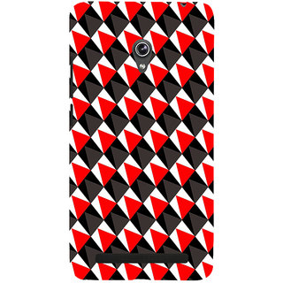 ifasho Colour Full 3Diangle inside Square Pattern Back Case Cover for Asus Zenfone 6