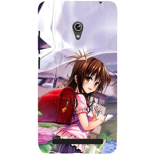 ifasho Girl with red bag Back Case Cover for Asus Zenfone 6