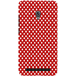 ifasho Animation Clourful white Circle on red background Pattern Back Case Cover for Asus Zenfone 6