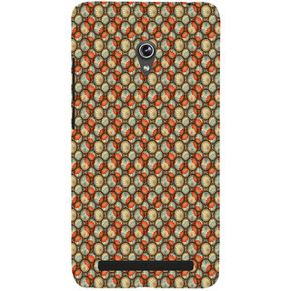 ifasho Animated Pattern With flower inside Circle  Back Case Cover for Asus Zenfone 6