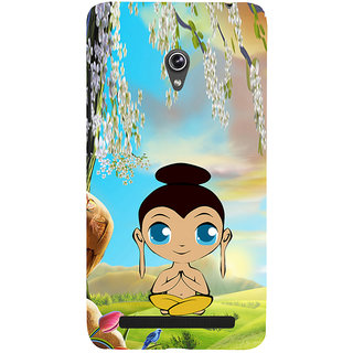 ifasho Lord Budha animated Back Case Cover for Asus Zenfone 6