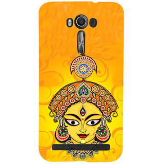 ifasho Godess Durga head Back Case Cover for Asus Zenfone 2 Laser ZE601KL