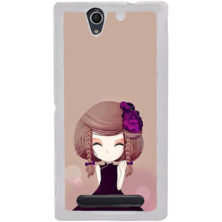 ifasho Girl  with Flower in Hair Back Case Cover for Sony Xperia C4