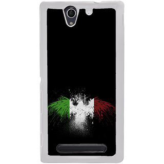 ifasho Tri Colour bird Back Case Cover for Sony Xperia C4