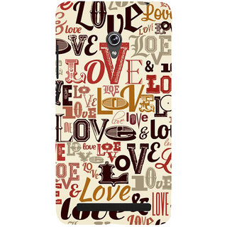 ifasho Love pattern Back Case Cover for Asus Zenfone 6