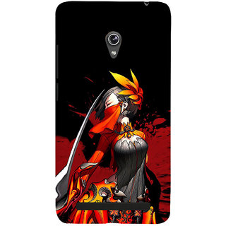 ifasho Colorful Girl animated Back Case Cover for Asus Zenfone 6