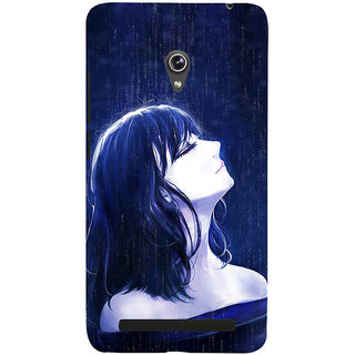 ifasho Girl in rain Back Case Cover for Asus Zenfone 6
