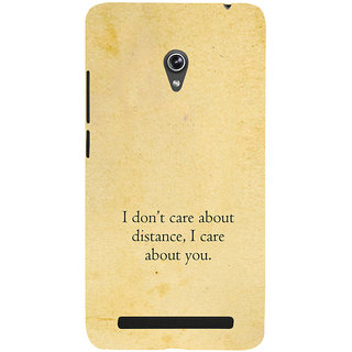 ifasho care quotes  Back Case Cover for Asus Zenfone 6