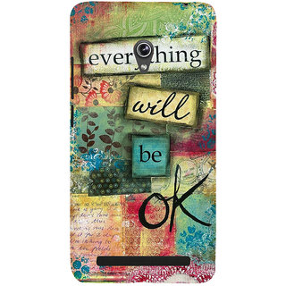ifasho everything will be ok quotes Back Case Cover for Asus Zenfone 6