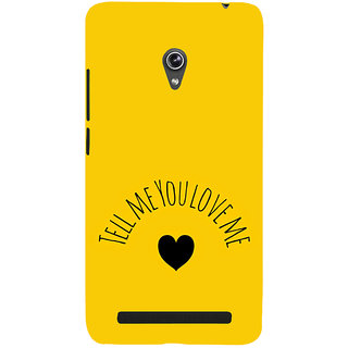 ifasho Love  Quotes  Back Case Cover for Asus Zenfone 6