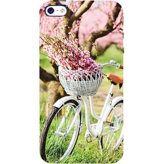 ifasho Cycle in a park with flowers and grass Back Case Cover for Apple iPhone 5