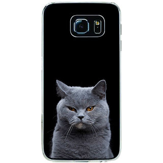 ifasho black Cat Back Case Cover for Samsung Galaxy S6