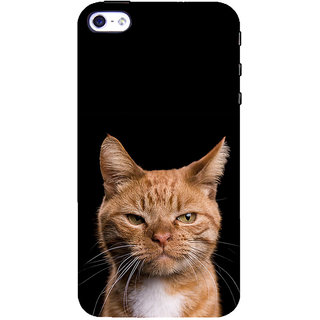 ifasho Brown cat Back Case Cover for Apple iPhone 5