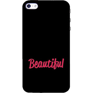ifasho Bautiful word Back Case Cover for Apple iPhone 5