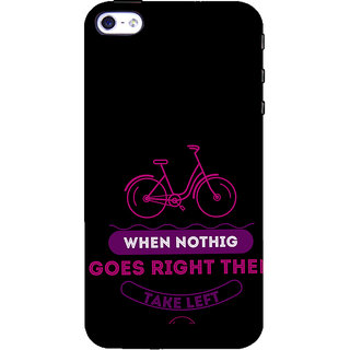 ifasho Right and Wrong Quote Back Case Cover for Apple iPhone 5
