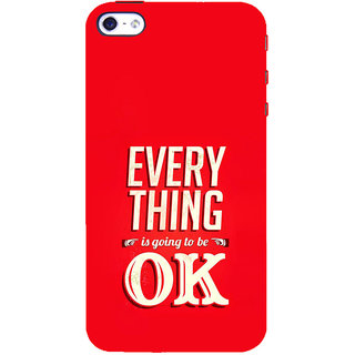 ifasho everything will be ok quotes Back Case Cover for Apple iPhone 5