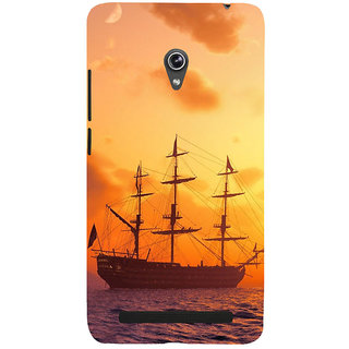 ifasho Ship in See at sunset Back Case Cover for Asus Zenfone 6