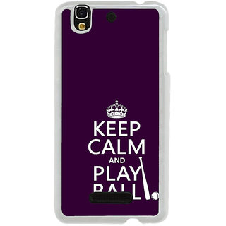 ifasho Nice Quote On Keep Calm Back Case Cover for Yureka