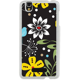 ifasho Animated Pattern birds and flowers Back Case Cover for Yureka
