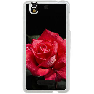 ifasho Red Rose Back Case Cover for Yureka