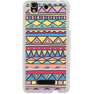 ifasho Animated Pattern colrful tribal design Back Case Cover for Yureka