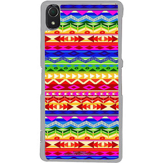 ifasho multi color Triangular and circle Pattern Back Case Cover for Sony Xperia Z3