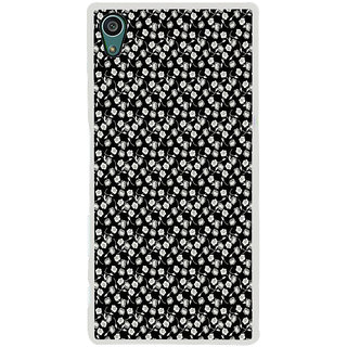 ifasho Modern Art Design animated cloth Pattern of small flower Back Case Cover for Sony Xperia Z5