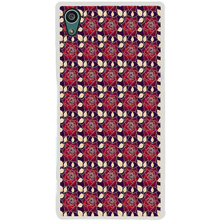 ifasho Animated Pattern black and white many lotus flower Back Case Cover for Sony Xperia Z5