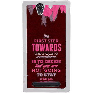 ifasho Kowledge quotes Back Case Cover for Sony Xperia C4