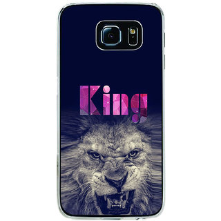 ifasho Angry Lion King Back Case Cover for Samsung Galaxy S6