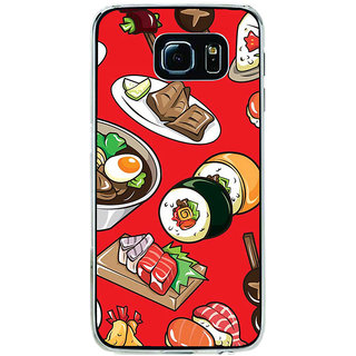ifasho Animated food pattern Back Case Cover for Samsung Galaxy S6