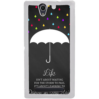 ifasho Good Quote on Rain Back Case Cover for Sony Xperia C4