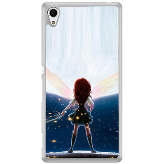 ifasho Girl with blade animated Back Case Cover for Sony Xperia M4 Aqua