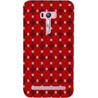 ifasho Design Clourful red and white Circle Pattern Back Case Cover for Asus Zenfone Selfie
