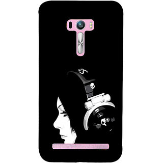 ifasho Girl with headphone Back Case Cover for Asus Zenfone Selfie
