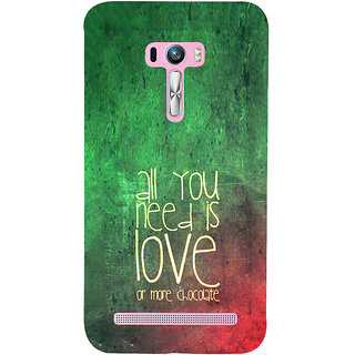 ifasho Love Quotes for love and chocolate Back Case Cover for Asus Zenfone Selfie