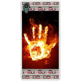 ifasho Modern Art Design  dont touch my phone with palm Back Case Cover for Sony Xperia Z5