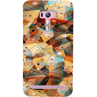 ifasho Modern Theme of royal design in colorful pattern Back Case Cover for Asus Zenfone Selfie