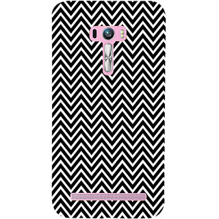 ifasho Animated Pattern of Chevron Arrows Back Case Cover for Asus Zenfone Selfie