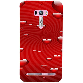 ifasho Modern Art Design Pattern with heart Back Case Cover for Asus Zenfone Selfie