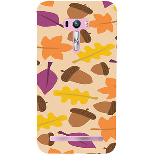 ifasho Animated Pattern colrful design leaves and nuts Back Case Cover for Asus Zenfone Selfie