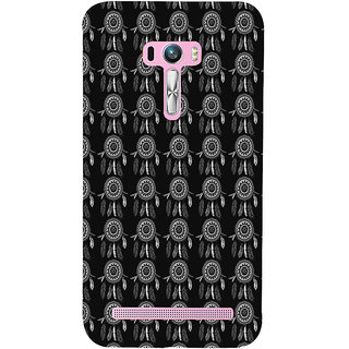 ifasho Animated Pattern With Circles and feathers Back Case Cover for Asus Zenfone Selfie