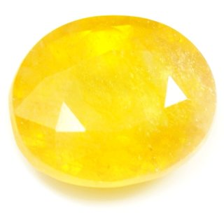 4 Ratti 3.67 Carat Loose Natural Pukhraj Yellow Sapphire Gemstone For Daily Purpose