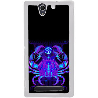 ifasho zodiac sign cancer Back Case Cover for Sony Xperia C4