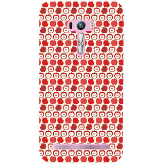 ifasho Animated Pattern design many small apple Back Case Cover for Asus Zenfone Selfie
