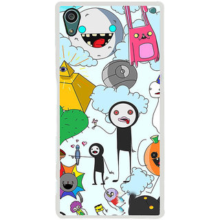 ifasho Cartoon Soft face many cartoons characters Back Case Cover for Sony Xperia Z5
